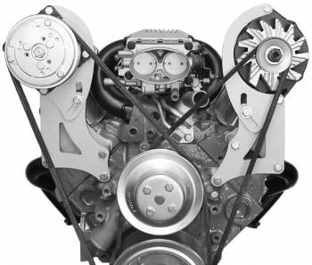 Alan Grove Components - Alan Grove Components Air Conditioning Bracket - SB Chevy Vortec - Long Water Pump - High Mount - RH
