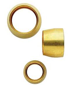 Aeroquip - Aeroquip -6 Replacement Air Conditioning Fitting Brass Sleeves (6 Pack)