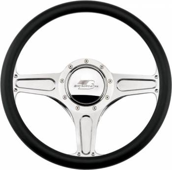 Billet Specialties - Billet Specialties Street Lite Steering Half Wrap Steering Wheel - Polished - 3-Spoke - 14 in. Diameter