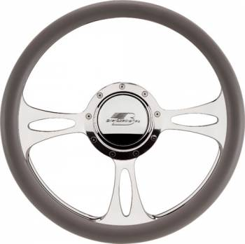 Billet Specialties - Billet Specialties Half Wrap Steering Wheel - Fast Lane - Polished - 3-Spoke - 14 in. Diameter