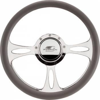 Billet Specialties - Billet Specialties Half Wrap Steering Wheel - Fast Lane - Polished - 3-Spoke - 14 in. Diameter