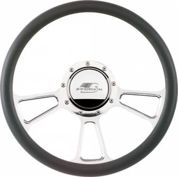 Billet Specialties - Billet Specialties Half Wrap Steering Wheel - Vintec - Polished - 3-Spoke - 14 in. Diameter