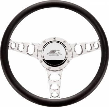 Billet Specialties - Billet Specialties Half Wrap Steering Wheel - Outlaw - Polished - 3-Spoke - 14 in. Diameter