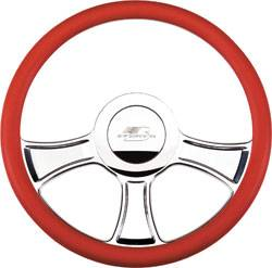 Billet Specialties - Billet Specialties Chicayne Half Wrap Steering Wheel - Polished - 3-Spoke - 14 in. Diameter