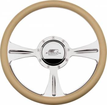 Billet Specialties - Billet Specialties GTX01 Half Wrap Steering Wheel - Polished - 3-Spoke - 14 in. Diameter