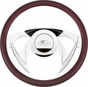 Billet Specialties - Billet Specialties Sniper Half Wrap Steering Wheel - Polished - 4-Spoke - 14 in. Diameter