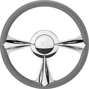 Billet Specialties - Billet Specialties Stiletto Steering Wheel - 3-Spoke - 14 in. Diameter