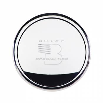 Billet Specialties - Billet Specialties Polished Horn Button - Billet Specialties Logo - Fits Billet Specialties - Lecarra