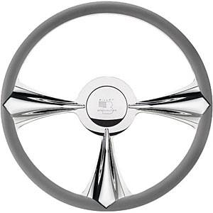 Billet Specialties - Billet Specialties Stiletto Steering Wheel 3-Spoke - 15.5 in. Diameter