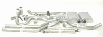 Thrush - Thrush Dual Kit - 2.5 in. Aluminized Pipes