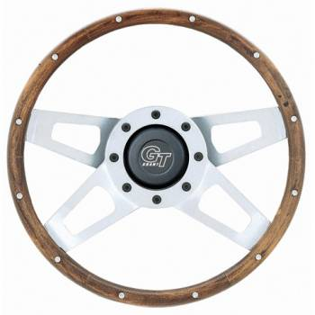 "Grant Steering Wheels - Grant Challenger Series Steering Wheel - 13 1/2"" - Walnut / White"