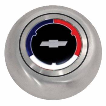 Grant Steering Wheels - Grant Cheverolet Red / White / Blue Chrome Horn Button