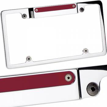 Billet Specialties - Billet Specialties Lighted License Frame w/ 3rd Brake Light