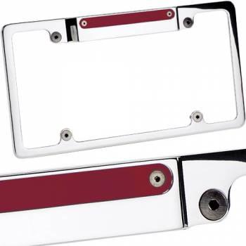 Billet Specialties - Billet Specialties Lighted License Frame w/ 3rd Brake Light