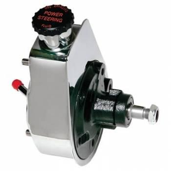 Borgeson - Borgeson Rebuilt Saginaw Power Steering Pump Chrome