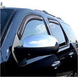 Auto Ventshade - Auto Ventshade Ventvisor In-Channel Deflector - 4 Piece - Smoke