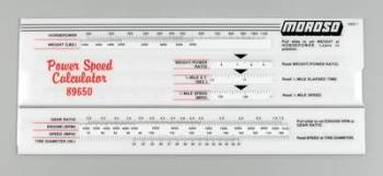 Moroso Performance Products - Moroso Power/Speed Calculator