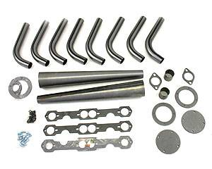 """Patriot Exhaust - Patriot SB Chevy Lakester Weld-Up Kit 1-5/8""""- 4"""""""