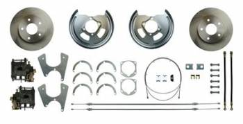 Right Stuff Detailing - Right Stuff Detailing Rear Disc Conversion GM E-Brake CablesIncludes