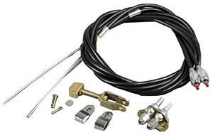 Wilwood Engineering - Wilwood Floor Mount Parking Brake Cable Kit - 96""