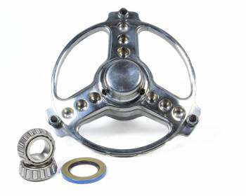 Keizer Aluminum Wheels - Keizer Sprint Polished Direct Mount Front Hub w/Bearings - 3-Spoke