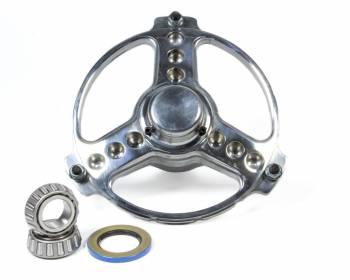 Keizer Aluminum Wheels - Keizer Sprint Polished Direct Mount Front Hub w/Bearings - 3-Spoke