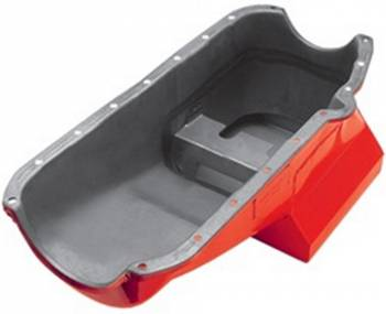 Hamburger's Performance Products - Hamburger's 55-79 SB Chevy Wet Sump Oil Pan 7qt