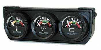 Auto Meter - Auto Gage Electric Mini Oil / Volt / Water Gauge Black Console 1-1 / 2 in.