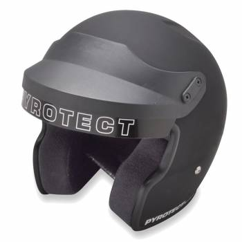 Pyrotect ProSport Open Face Helmet - Flat Black