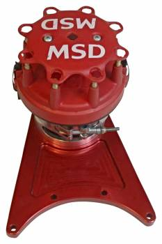 MSD - MSD Pro-Billet Front Drive Distributor w/ Standard Size: Ford Style Distributor Cap/Rotor