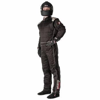 Velocity Sprint Race Suit - Black/Silver 501-19