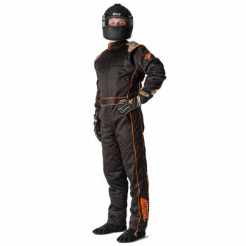 Velocity Race Gear - Velocity 5 Race Suit Safety Package - Black/Fluo Orange