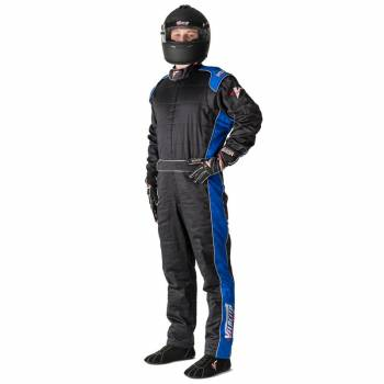 Velocity Race Gear - Velocity 5 Race Suit Safety Package - Black/Blue