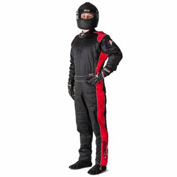 Velocity Race Gear - Velocity 5 Race Suit Safety Package - Black/Red