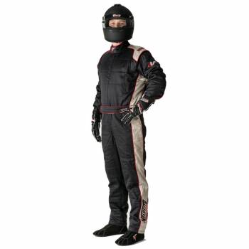 Velocity Race Gear - Velocity 5 Race Suit Safety Package - Black/Silver