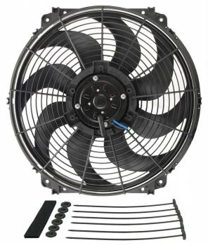 "Derale Performance - Derale 16"" Tornado Electric Fan - 2175 CFM, 1680 RPM, 18.4 Amp Draw"