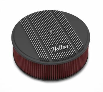 "Holley Performance Products - Holley 14""x4"" Round Finned Air Cleaner - Premium Element - Black"