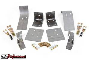 UMI Performance - UMI Performance 1979-1993 Ford Mustang Upper and Lower Control Arm Reinforcements - Complete Kit