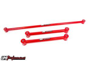 UMI Performance - UMI Performance 1982-2002 GM F-Body Tubular Lower Control Arms and Non-Ajustable Panhard Bar Kit - Red