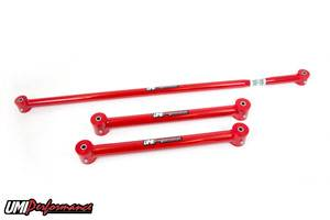 UMI Performance - UMI Performance 1982-2002 GM F-Body Lower Control Arms & On-Car Adjustable Panhard Bar Kit - Red