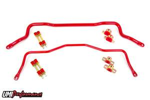 UMI Performance - UMI Performance 1993-2002 GM F-Body Front and Rear Sway Bar Kit - Tubular - Red