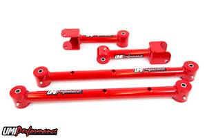 UMI Performance - UMI Performance 1978-1988 GM G-Body Tubular Upper & Lower Control Arms Kit - Red