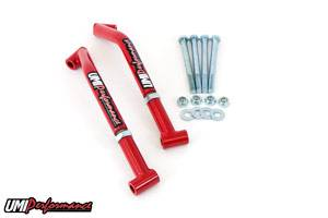 UMI Performance - UMI Performance 78-88 GM G-Body Control Arm Reinforcements/Frame Braces - Red