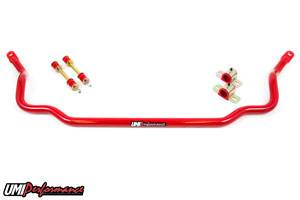 "UMI Performance - UMI Performance 1964-1972 GM A-Body 1.250"" Solid Front Sway Bar - Red"
