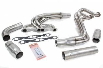 "Dynatech - Dynatech 604 Chevy Crate Engine Dirt Late Model Headers - 1.625""-1.75"" - 3.00"" Collector - Stainless Steel"