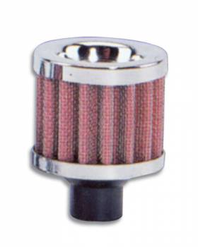 Vibrant Performance - Vibrant Performance Crankcase Breather Filte r W/ Chrome Cap - 1/2In