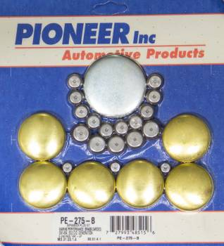 Pioneer Automotive Products - Pioneer BBC Gen V Freeze Plug Kit - Marine - Brass