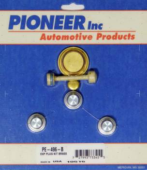Pioneer Automotive Products - Pioneer Chevy LS Freeze Plug Kit Brass