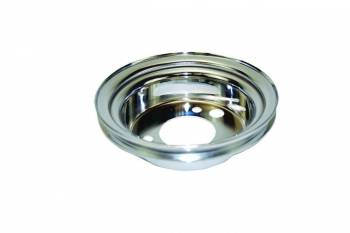 SPECIALTY CHROME - Specialty Chrome BBC SWP 1 Groove Crank Pulley Chrome