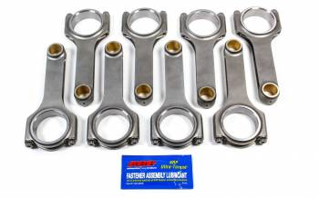 Scat Enterprises - Scat Enterprises SBC 4340 Forged H-Beam Rods 6.000 w/ARP2000